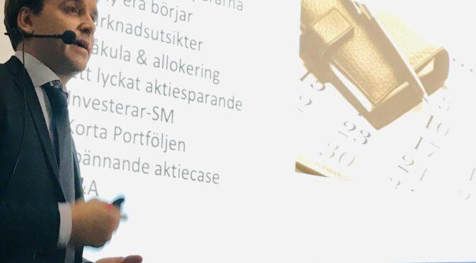INVESTERA SOM PROFFSEN! SE FöreläsningEN, Rekord i Korta Portföljen 85% MED Christoffer Ahnemark Investerarmötet 9 december!