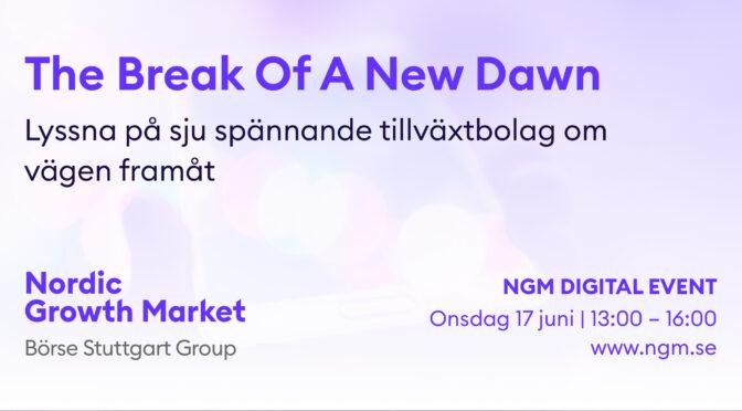TA DEL AV NGM DIGITAL EVENT FRÅN 17 JUNI!