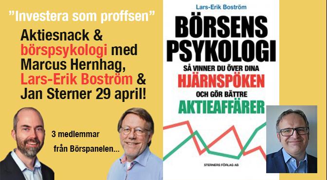 Se Aktiesnack & Börspsykologi för bättre aktieaffärer med Marcus Hernhag & Börspanelen!