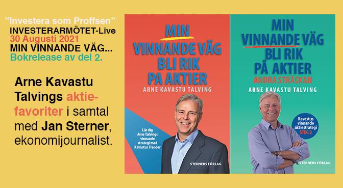 """""""Investera som Proffsen"""" 30 augusti med Arne Kavastu Talving!"""