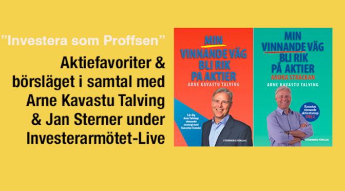 """Arne Kavastus Talvings Vinnande Väg Bli Rik På Aktier """"Investera som Proffsen"""""""