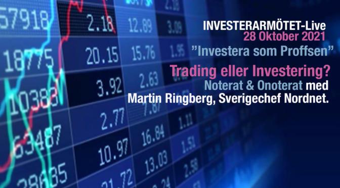 Investerarmötet-Live 28 oktober MED NORDNET!